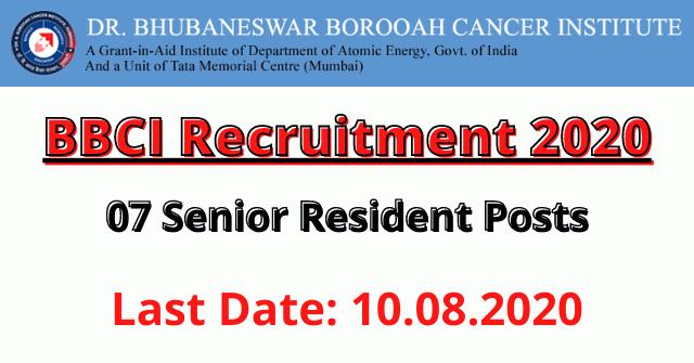 BBCI Recruitment 2020: Apply For 07 Senior Resident Posts