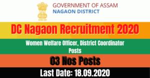 DC Nagaon Recruitment 2020: Apply For 03 Women Welfare Officer, District Coordinator Posts Vacancy