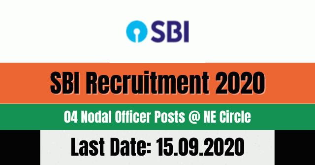 SBI Recruitment 2020: Apply For 04 Nodal Officer Posts @ NE Circle