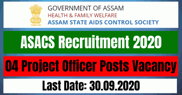 ASACS Recruitment 2020: Apply For 04 Project Officer Posts Vacancy