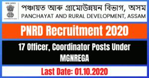 PNRD Recruitment 2020: Apply Online For 17 Officer, Coordinator Posts Under MGNREGA