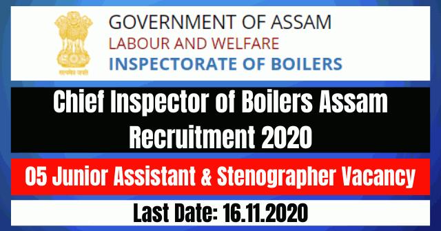 CIB Assam Recruitment 2020: Apply For 05 Junior Assistant & Stenographer Vacancy
