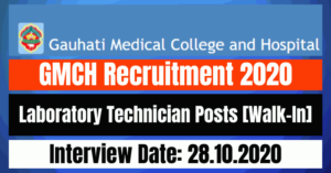 GMCH Recruitment 2020: Apply For Laboratory Technician Posts [Walk-In]