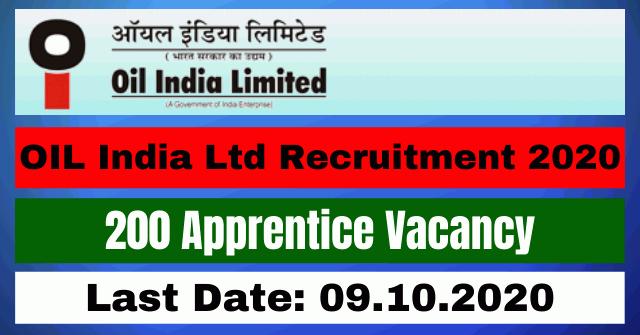 OIL Recruitment 2020: Apply For Online 200 Apprentice Vacancy
