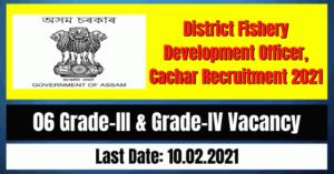 DFDO Cachar Recruitment 2021: 06 Grade-III & Grade-IV Vacancy