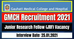 GMCH Recruitment 2021: Junior Research Fellow (JRF) Vacancy