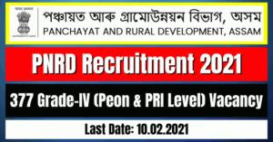 PNRD Recruitment 2021: 377 Grade-IV Vacancy