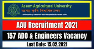 AAU Recruitment 2021: 157 ADO & Engineers Vacancy