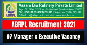 ABRPL Recruitment 2021: 07 Manager & Executive Vacancy
