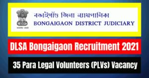 DLSA Bongaigaon Recruitment 2021: 35 PLVs Vacancy