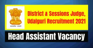 DSJ Udalouri Recruitment 2021: Head Assistant Vacancy